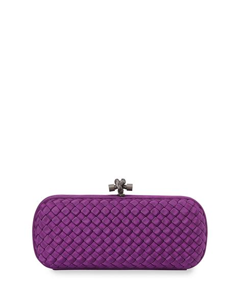 Bags Are Big Carry A Clutch by Lyst Bottega Veneta Woven Faille Large Knot Clutch Bag