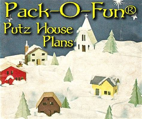 How To Make Miniature Christmas Trees - pack o fun putz house plans from big indoor trains and cardboardchristmas com