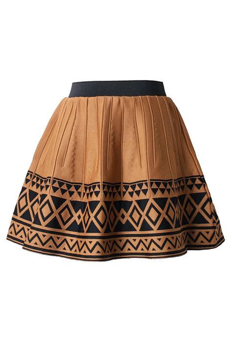 tribal pattern skirt aztec tribal pattern skater skirt