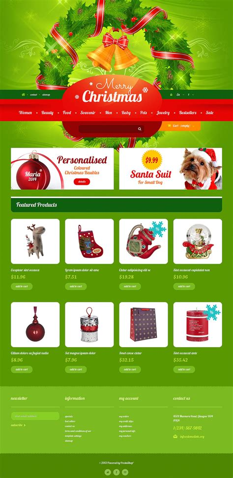9 christmas ecommerce website themes free website