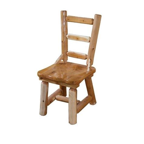 Rustic White Dining Chairs White Cedar Log Dining Chair