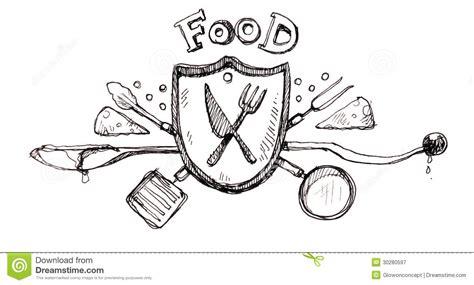 design a logo in sketch food icon logo drawing stock illustration illustration of