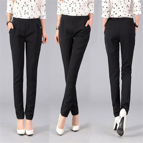 Celana Kantor Wanita best wholesale 2015 new flat solid stretch pencil tights brand casual
