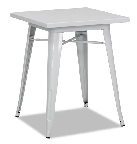 White Bistro Table Tolia Metal Bistro Table In White Furniture Home D 233 Cor Fortytwo