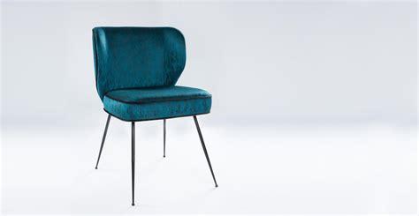 chaise en velours ou tissu design wayne