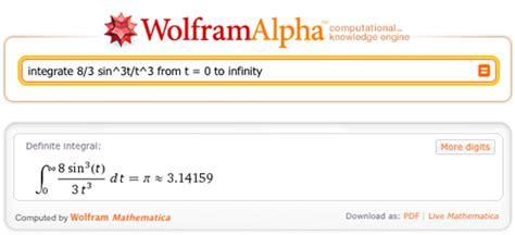 infinity wolfram alpha pi day 2011 in wolfram alpha wolfram alpha