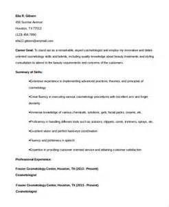 cover letter for cosmetology sle resume for cosmetology student bestsellerbookdb