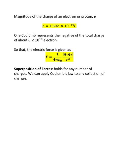 Charge Of A Proton In Coulombs by Chapter1 Coulomb S