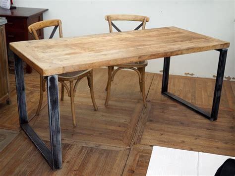 tavoli industriali tavolo legno massello e ferro industrial nuovimondi