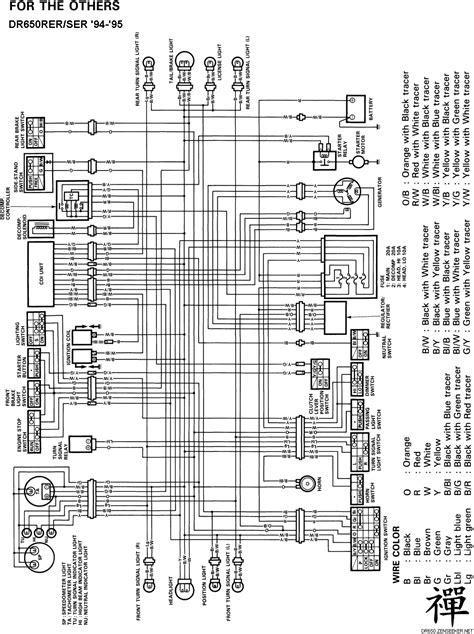 regulator rectifier wiring diagram suzuki dr650 suzuki
