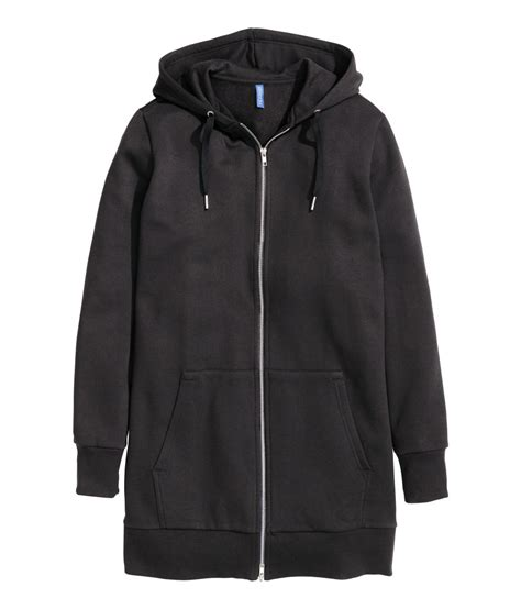 H Jaket h m hooded jacket in black for lyst