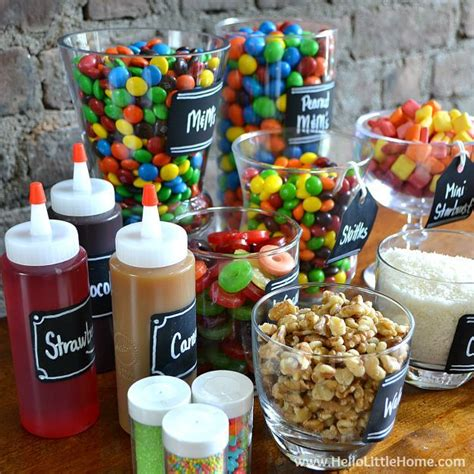 sundae bar topping ideas this candy covered diy ice cream sundae bar is an easy way