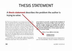 how to find a thesis statement in an article