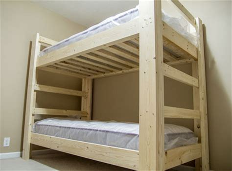 2x4 Bed Frame Plans 2x4 And 2x6 Bunk Bed By Jsb Lumberjocks Woodworking Community