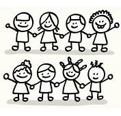 Group Of Friends Clipart Black And White  Clip Art Library