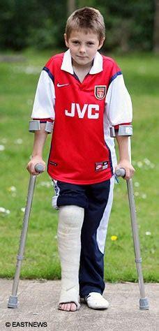hospital sends boy  broken leg home london evening