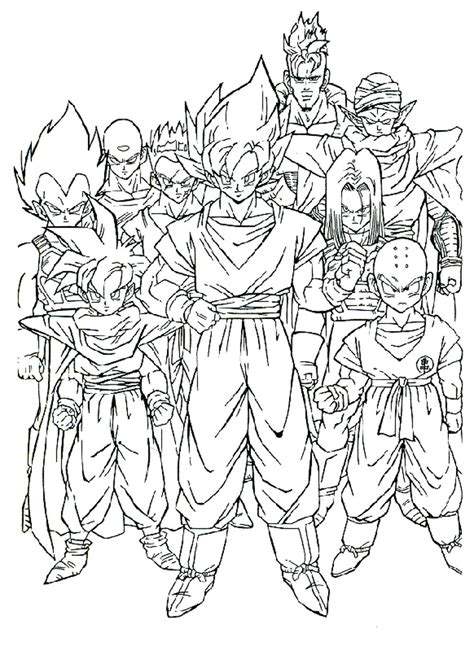 coloring pages of dragon ball z characters dragon ball z coloring pages all characters coloringstar