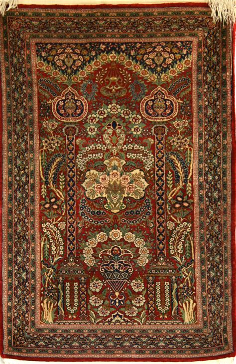 qum rugs small knotted qum rug in silk ref 1681 1