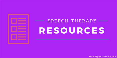Therapy Resources Free Speech Therapy Resources You Need Right Now