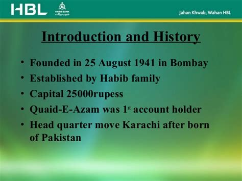 banking branches phone and address in pakistan hbl presentation on hbl ppt