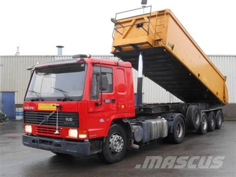 volvo trailer price used volvo fl10 320hp blaumhardt dump trailer 3 axle
