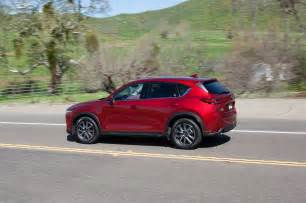 2017 mazda cx 5 rear three quarter in motion motor trend