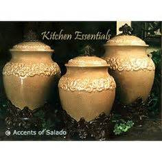 tuscan style kitchen canister sets tall floor vases ideal for hacienda southwest style homes