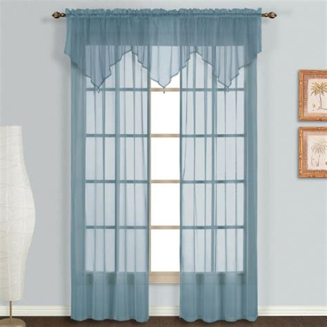 blue curtain valance united curtain monte carlo sheer ascot valance 40 by 22