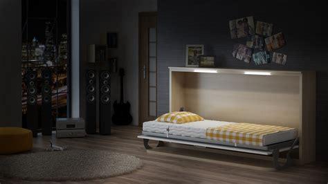 schrankbett mit schreibtisch schrankbett wandbett singlo horizontal desk mit