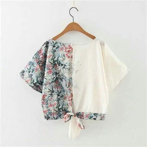 U082 Baju Atasan Batik Bunga 1 35 model baju batik atasan 2018 simple casual modern