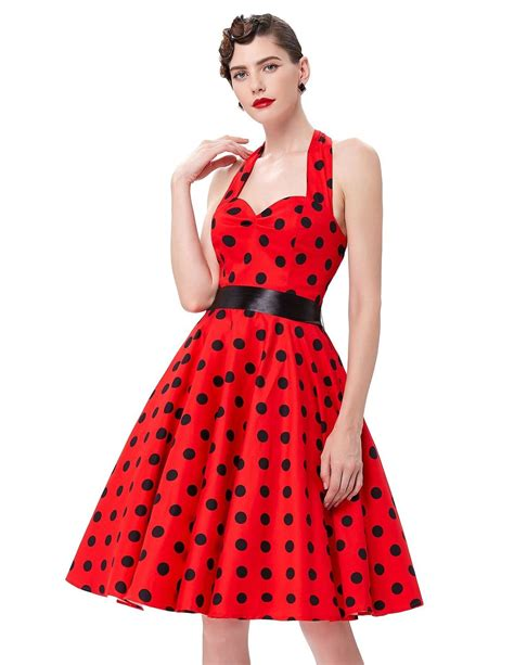 red swing dresses red swing polka halter dress 1950sglam