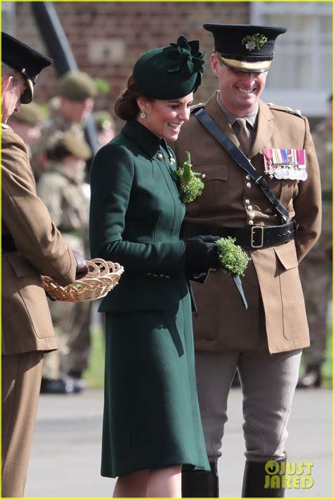 prince william kate middleton attend irish guards st patricks day parade photo