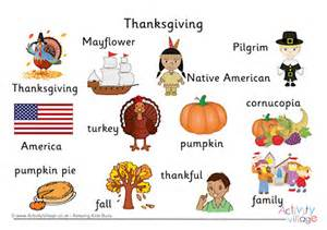 thanksgiving word mat