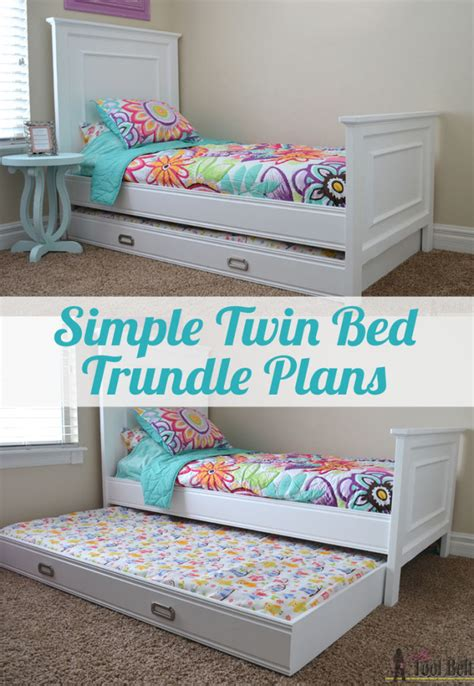 simple twin bed trundle  tool belt