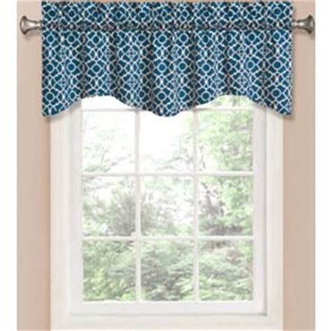lowes curtains waverly waverly home classics 16 in indigo cotton back tab valance
