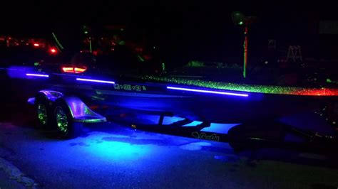 black lights for boats eo uv blacklight strip kit underwater green fishing