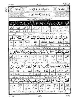 quran surah  almlk al mulk urdu translation tarjuma