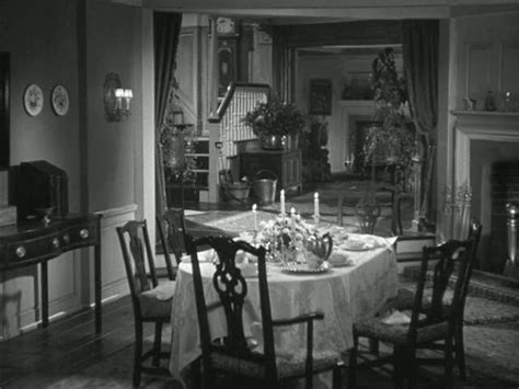 dining room in german mrs miniver s house in world war ii