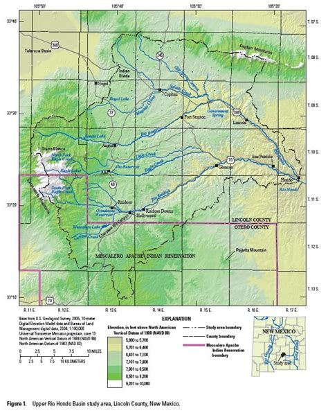 lincoln new mexico map usgs new mexico water projects lincoln county