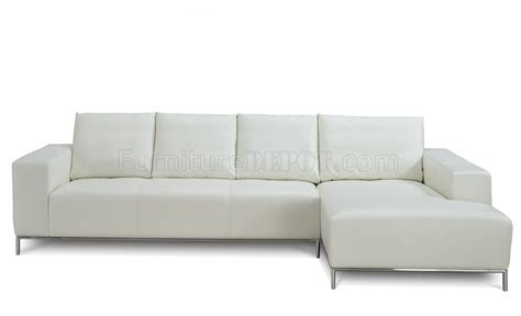 sofa linea linea sectional sofa in white leather by whiteline