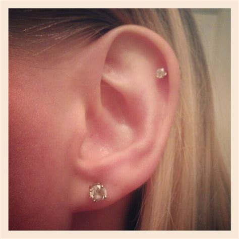 another simple stud cartilage piercing pierced