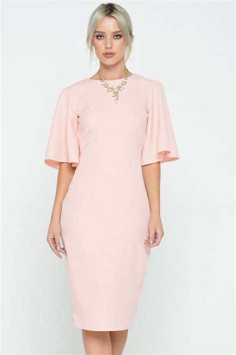 Dress Of The Day B With G Baby Doll Dress 2 by Ad Lib Cape Sleeve Midi Dress In Baby Pink Iclothing