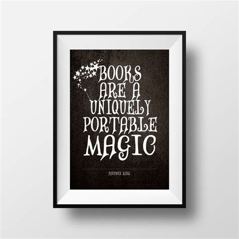 printable literary quotes printable art literary quote stephen king quote black