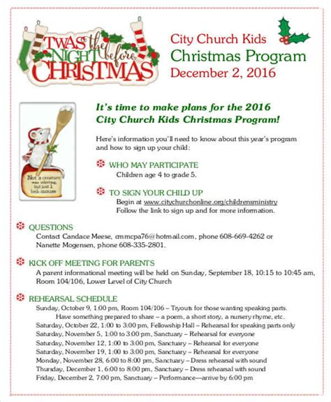 christmas program template 33 sle program templates sle templates