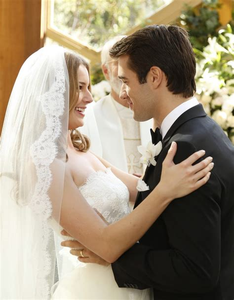 revenge emily vanc wedding emily vanc and josh bowman s revenge wedding photos
