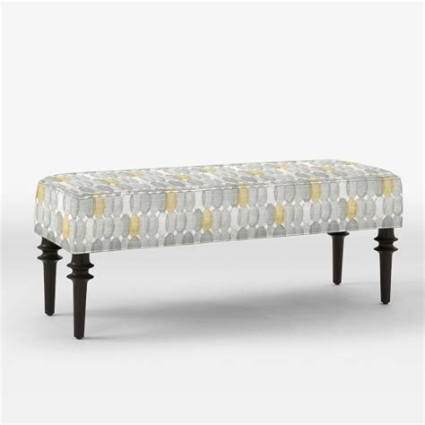 west elm benches upholstered bench