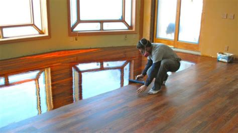 How To Clean Polyurethane Wood Floors by How To Apply Polyurethane To Wood Floors Ask The Home