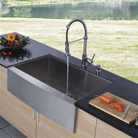 Kitchen Faucets For Farmhouse Sinks Vigo Platinum Series Farmhouse Kitchen Sink Faucet Vg15002 Modern Kitchen Sinks New York