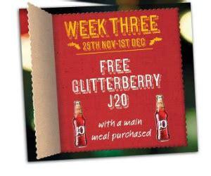 discount vouchers harvester harvester free j20 glitter berry drink with voucher