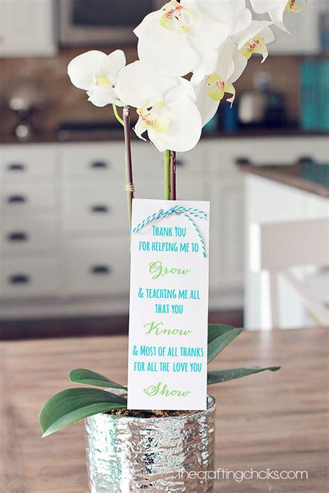 plant teacher gift idea  printable poem